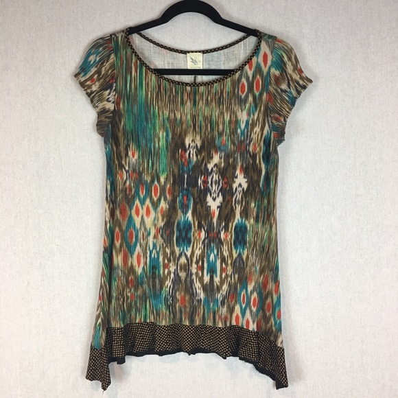Anthropologie Tops - Weston Wear Blouse Size Medium Hazed Landscape